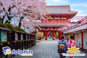 Du lịch Nhật Bản ngắm hoa anh đào: Osaka - Kyoto - Fuji - Tokyo 6N5Đ bay Vietnam Airlines KH từ Hà Nội