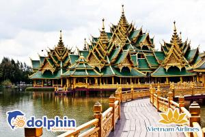Du lịch Thái Lan lễ 30/4: Bangkok – Pattaya – Muang Burang – Buffet 86 tầng bay Vietnam Airlines