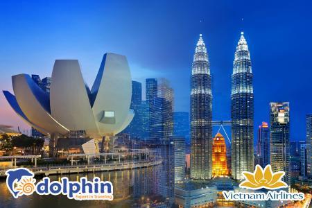 [Hà Nội] Du lịch Singapore - Malaysia 6N5Đ: Một hành trình - Hai đất nước bay Vietnam Airlines