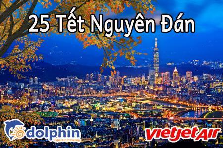 25 Tết Nguyên Đán - Du lịch Đài Loan: Cao Hùng - Đài Trung - Đài Bắc 5N4Đ bay Vietjet Air KH từ HCM