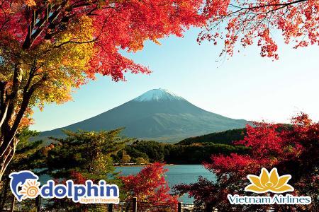 Nhật Bản mùa lá đỏ: Tokyo - Núi Fuji - Yokohama 4N3Đ bay Vietnam Airlines Khuyến mại khởi hành từ Hà Nội