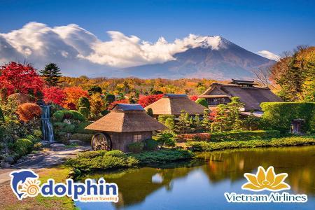 Charter Nhật Bản dịp lễ 30/4: Tokyo -  Núi Phú Sỹ - Kyoto - Osaka - Tokyo bay Vietnam Airlines KH từ Hà Nội