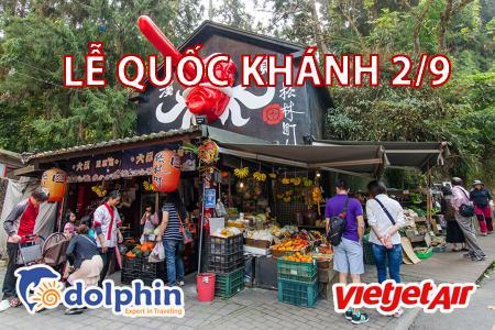 [Hồ Chí Minh] [Lễ Quốc Khánh 02/09] Tour du lịch Đài Loan 2019: Cao Hùng - Làng Yêu Quái - Nam Đầu - Đài Trung - Đài Bắc bay Vietjetair