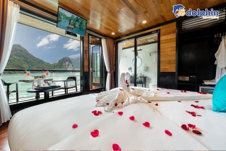 Du thuyền 5* ngao du Hạ Long - Vịnh Lan Hạ 2N1Đ phòng Junior Suites